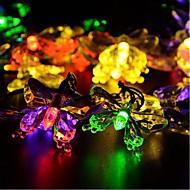 billige LED-stringlys-Lysslynger 20 LED Hvit Multifarget Gul Blå <5V