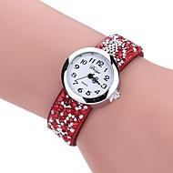 Dames Vrijetijdshorloge Dress horloge Polshorloge Chinees Kwarts PU Band Vintage Informeel Bohémien Zwart Blauw Rood Grijs Beige