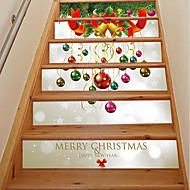 花柄/植物の クリスマス カートゥン ウォールステッカー ハウジング プレーン・ウォールステッカー 3D ウォールステッカー 飾りウォールステッカー ウェディングステッカー,ペーパー ビニール ホームデコレーション ウォールステッカー・壁用シール For 壁