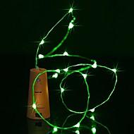 abordables Tiras de Luces LED-BRELONG® 0.9 m Cuerdas de Luces 8 LED Blanco Cálido / Blanco / Azul Impermeable <5 V 1pc