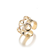 cheap Editor's Picks-Women's Cuff Ring - Alloy Korean Adjustable Gold For Gift / Daily / Date