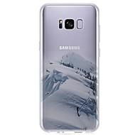 olcso Galaxy S6 Edge Plus tokok-Case Kompatibilitás S8 S7 Ultra-vékeny Átlátszó Minta Hátlap Látvány Puha TPU mert S8 S8 Plus S7 edge S7 S6 edge plus S6 edge S6 S6