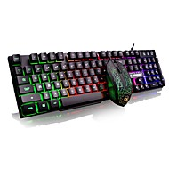cheap Mice & Keyboards-G160 MINI Wired Multicolor Backlit 104 Gaming Keyboard Backlit