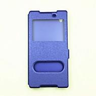 Χαμηλού Κόστους ΘΗΚΕΣ ΤΗΛΕΦΩΝΟΥ-tok Για Sony Xperia XZ Premium Xperia XZ Πορτοφόλι με βάση στήριξης με παράθυρο Ανοιγόμενη Πλήρης κάλυψη Συμπαγές Χρώμα Σκληρή PU Δέρμα