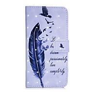 Кейс для Назначение Apple iPhone X iPhone 8 Кошелек Бумажник для карт со стендом Чехол Перья Твердый Искусственная кожа для iPhone X