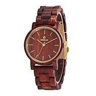 cheap Watch Deals-Women's Wood Watch Dress Watch Japanese Quartz Wooden Wood Band Minimalist Elegant Red
