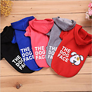 Cat Dog Sweatshirt Dog Clothes Casual/Daily Keep Warm Leisure Casual/Sporty Warm Ups Adorable Halloween Christmas Animal Red Gray Black