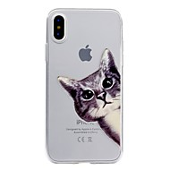 Θήκη Za Apple iPhone X / iPhone 8 Prozirno / Reljefni uzorak / Uzorak Stražnja maska Mačka Mekano TPU za iPhone X / iPhone 8 Plus / iPhone 8