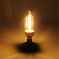 cheap LED Filament Bulbs-1pc 5W 400 lm E14 LED Filament Bulbs C35 4 leds COB Warm White AC 220-240V