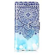 Кейс для Назначение Apple iPhone X iPhone 8 Кошелек Бумажник для карт со стендом Чехол Мандала Твердый Искусственная кожа для iPhone X