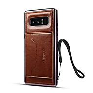Case For Samsung Galaxy Note 8 Card Holder with Stand Back Cover Solid Color Hard PU Leather for Note 8