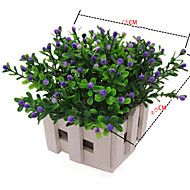 22cm 6 adet mini 6 renkplastik milan tane çiçek ev dekorasyon yapay çiçekler