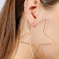 Femme Boucles d'oreille goutte simple Européen Mode Alliage Etoile Bijoux Pour Bar