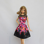 パーティー/イブニング ドレス ために バービー人形 ブラック ために 女の子の 人形玩具