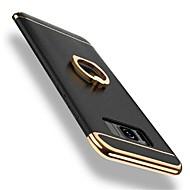 Недорогие Чехлы и кейсы для Galaxy S8-Кейс для Назначение SSamsung Galaxy S8 Plus S8 Защита от удара Покрытие Кольца-держатели Поворот на 360° Кейс на заднюю панель Сплошной