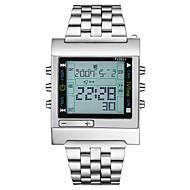 billige Sportsure-Herre Dame Quartz Digital Watch Militærur Sportsur Japansk Kalender Kronograf Vandafvisende Stor urskive LCD Rustfrit stål Bånd Luksus