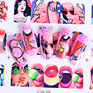 12 Nail Art Sticker  Decals Applique Water Transfer Sticker Water Transfer Decals DIY Tools Other Decorations Makeup Cosmetic Nail Art