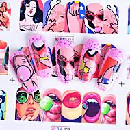 ieftine -Nail Art autocolant Decals Aplicație Aplicația de transfer de apă DIY Tools machiaj cosmetice Nail Art Design