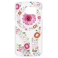 tanie Samsung: Nowości-Kılıf Na Samsung Galaxy Stras Wzór Etui na tył Kwiaty Twarde PC na S6 edge S6