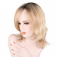 Недорогие Парики-Парики из искусственных волос Волнистый Природные волосы С чёлкой Без шапочки-основы Жен. Блондинка Парик для Хэллоуина Знаменитый парик