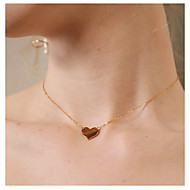 cheap Editor's Picks-Women's Pendant Necklace - Heart Simple, Fashion Gold Necklace One-piece Suit For Daily, Going out