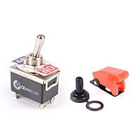 Недорогие Выключатели-сверхмощный тумблер 25a 12a 12v on / off автомобильный свет dpst ракета / крышка для воды