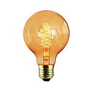 abordables Iluminación Profesional-e27 60w g80 alrededor del alambre americano restaurante bola edison retro bombillas decorativas