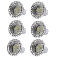 お買い得  LED スポットライト-6本 5W 400lm GU10 LEDスポットライト 1 LEDビーズ COB 調光可能 LEDライト 温白色 クールホワイト 110-130V 220-240V