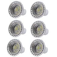 voordelige LED-spotlampen-6pcs 5W 400lm GU10 LED-spotlampen 1 LED-kralen COB Dimbaar LED Lamp Warm wit Koel wit 110-130V 220-240V