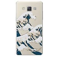 billige Galaxy A8 Etuier-Etui Til Samsung Galaxy A7(2017) Mønster Bagcover Linjeret / bølget Blødt TPU for A3 (2017) A5 (2017) A7 (2017) A7(2016) A5(2016) A8