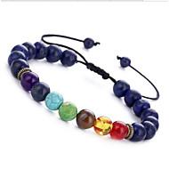 cheap -Women's Onyx Turquoise Obsidian Chakra Bead Bracelet Gemstone Ladies Bracelet Jewelry Brown / Blue / Dark Gray For Birthday Daily