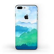 Недорогие Защитные пленки для iPhone-1 ед. Наклейки для Защита от царапин Матовое стекло Узор PVC iPhone 7 Plus