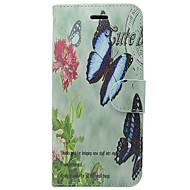 Недорогие Кейсы для iPhone 8 Plus-Кейс для Назначение Apple iPhone X iPhone 8 Бумажник для карт Кошелек со стендом Флип Чехол Бабочка Цветы Твердый Кожа PU для iPhone X
