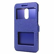 halpa Puhelimen kuoret-Etui Käyttötarkoitus Xiaomi Redmi Note 4X Redmi Note 4 Lomapkko Tuella Ikkunalla Flip Suojakuori Yhtenäinen väri Kova PU-nahka varten