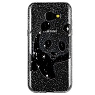 Недорогие Чехлы и кейсы для Galaxy A7(2017)-Кейс для Назначение SSamsung Galaxy A5(2017) A3(2017) Полупрозрачный С узором Рельефный лакировка Кейс на заднюю панель Панда Сияние и