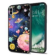 Недорогие Кейсы для iPhone 8 Plus-Кейс для Назначение Apple iPhone X / iPhone 8 Plus С узором Кейс на заднюю панель Цвет неба / Мультипликация Мягкий ТПУ для iPhone X / iPhone 8 Pluss / iPhone 8