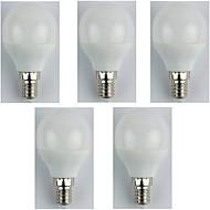 お買い得  LED ボール型電球-5個 4W 310lm E14 LEDボール型電球 G45 6 LEDビーズ SMD 3528 温白色 180-240V