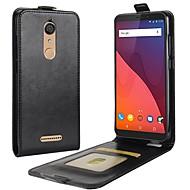お買い得  携帯電話ケース-ケース 用途 Wiko カードホルダー / フリップ フルボディーケース ソリッド ハード PUレザー のために Wiko View XL / Wiko View prime / Wiko View
