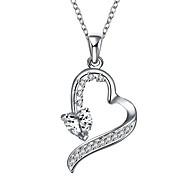 povoljno -Žene Geometric Shape Ležerne prilike Srce slatko Lijep Ogrlice s privjeskom Kubični Zirconia Kamen Ogrlice s privjeskom , Vjenčanje