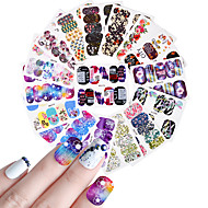25 Flower Cute Nail Decals Nail Wraps Nail Sticker Light Purple Nail Decoration