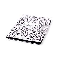 billige Etuier og covers til iPad-Etui Til Apple iPad Air 2 iPad mini 4 Kortholder Pung Med stativ Heldækkende Leopardtryk Hårdt Kunstlæder for iPad Pro 9.7 '' iPad Air 2