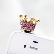 halpa Matkapuhelimen koristeet-Pölysuoja Laukku-, puhelin- tai avaimenperäamuletti Crystal / strassin tyyli Metalli 삼성 모바일폰 Huawei Xiaomi iPhone 8 Plus / 7 Plus / 6S