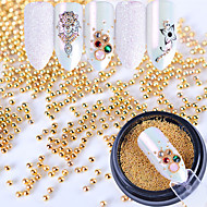 Metallic Accessories Glam Glitter Pearls Nail Jewelry Gold 0.003kg/box Nail Art Decoration
