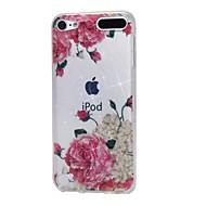 お買い得  iPod 用ケース/カバー-ケースアップルipod touch5 / 6ケースカバー高い浸透パウダーimd白い花柔らかいtpuの電話ケース