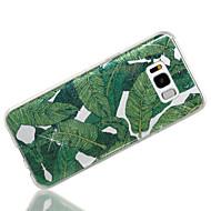 olcso Samsung tartozék újdonságok-Case Kompatibilitás Samsung Galaxy S8 Plus S8 IMD Minta Hátlap Fa Csillogó Puha TPU mert S8 Plus S8 S7 edge S7