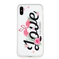 Недорогие Кейсы для iPhone 8-Кейс для Назначение Apple iPhone 7 / iPhone 6 Рельефный / С узором Кейс на заднюю панель Слова / выражения / Мультипликация / Цветы Мягкий ТПУ для iPhone X / iPhone 8 Pluss / iPhone 8