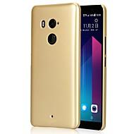 お買い得  携帯電話ケース-ケース 用途 HTC 超薄型 つや消し バックカバー 純色 ハード PC のために HTC U11 plus