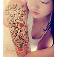 tanie -Tymczasowe tatuaże na ramię kwiat serii 3d wodoodporne tatuaże naklejki nietoksyczny brokat duży fałszywy tatuaż biżuteria ciała prezent