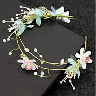 お買い得  -女性用 クラシック 花柄 フローラル ラインストーン 人造真珠 ヘアバンド