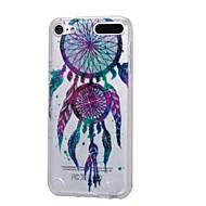 baratos -caso para ipod touch5 / 6 estojo de capa alto pó penetrante em pó gotas coloridas de cartilagens de vento soft tpu phone case